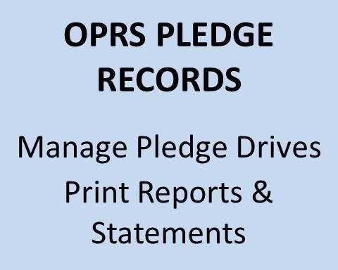 OPRS Pledge Records